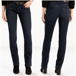 Levi's 505 Straight Leg Black Wash Mom Jeans 29